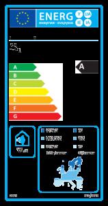 Energielabel für: Solarbetriebene Warmwasserbereiter