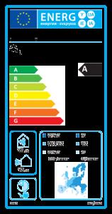 Energielabel für: Warmwasserbereiter mit Wärmepumpe
