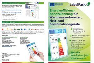 Energieeffizienz Kennzeichnung für Warmwasserbereiter Heiz- und Kombinationsgeräte